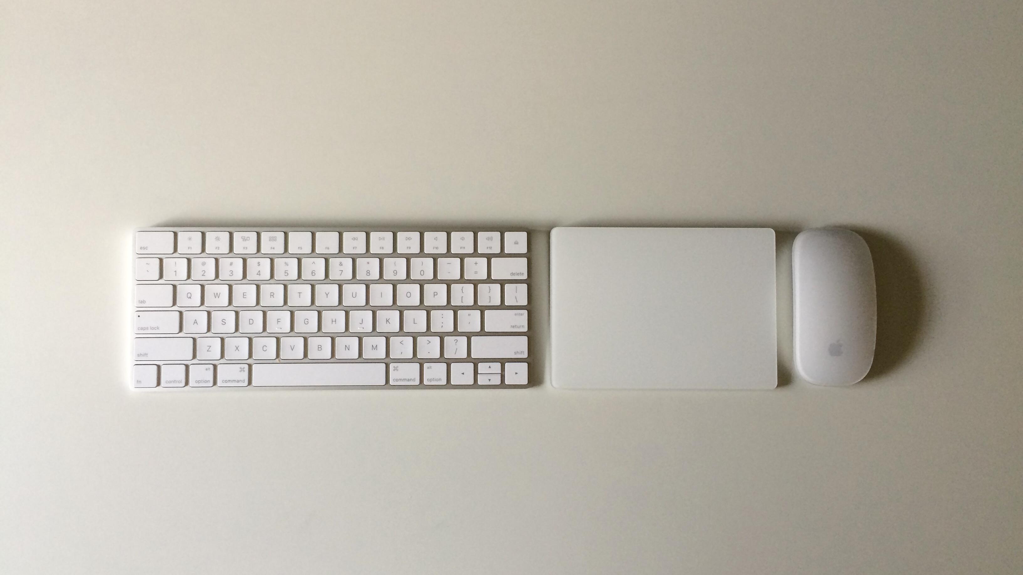 Apple Magic Keyboard, Magic Mouse 2 and Magic Trackpad 2